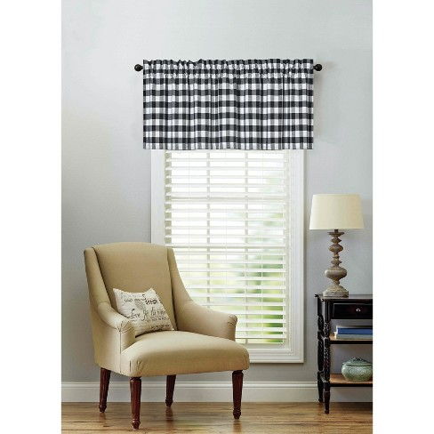 Kate Aurora Living Country Farmhouse Plaid Gingham Checkered Window Valance - image 1 of 1