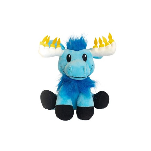 Hanukkah Mitzvah Moose Stuffed Doll with Glowing Antlers Mensch on a Bench - image 1 of 3