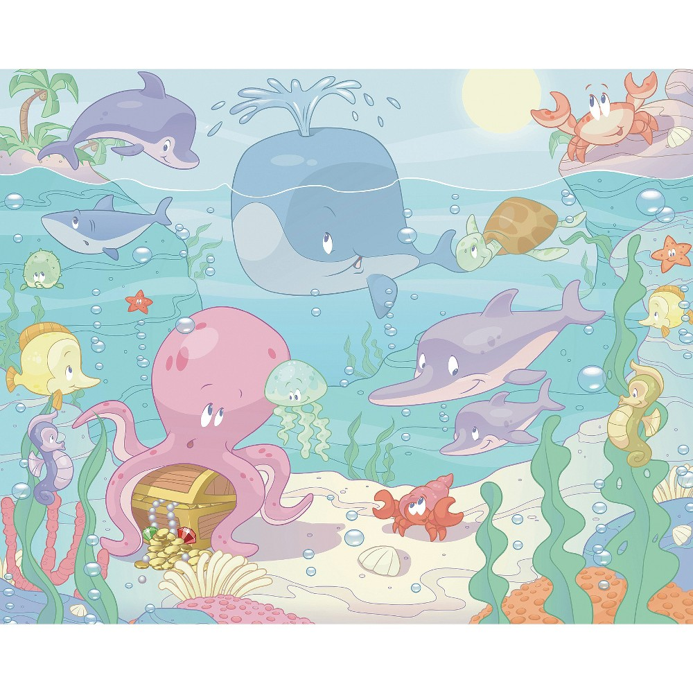 Image of Walltastic Baby Under the Sea Mural, Multi-Colored