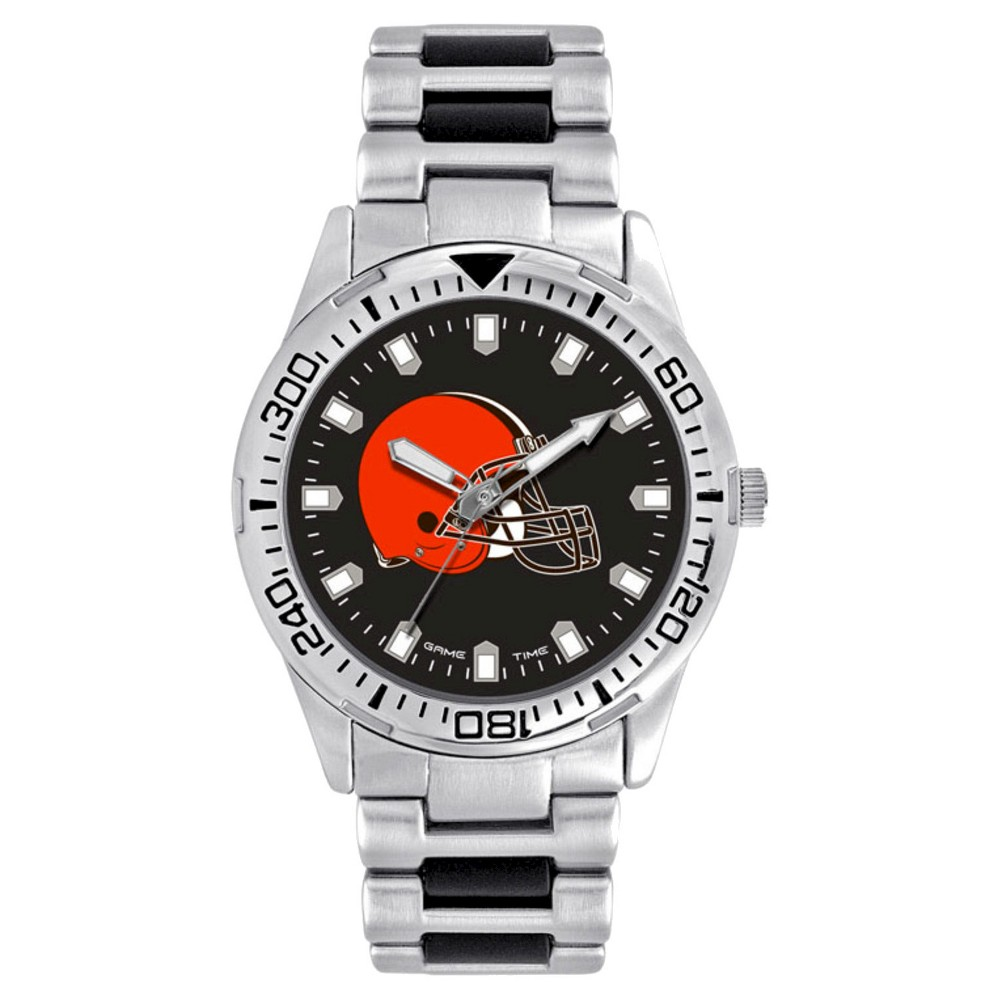 Men's Game Time NFL Heavy Hitter Sports Watch - Silver - Cleveland Browns