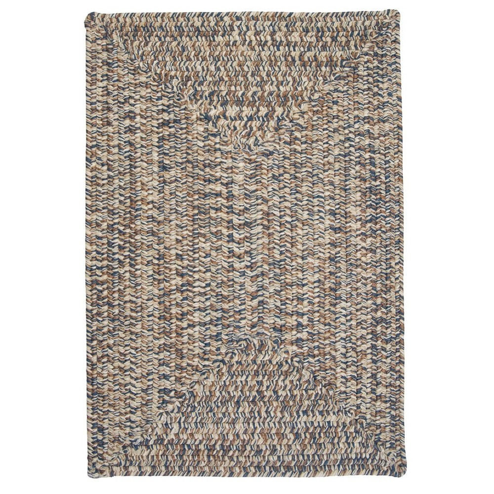 Forest Tweed Braided Area Rug Beige/Blue