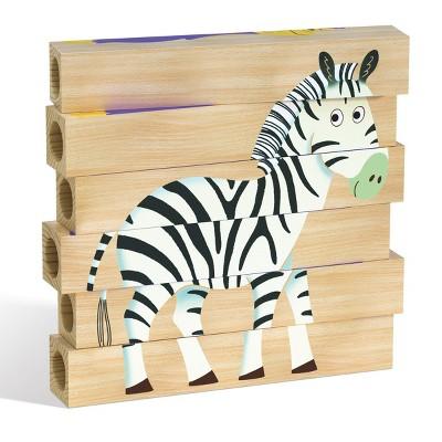 Quercetti Jungle Wooden Puzzle - 4pk