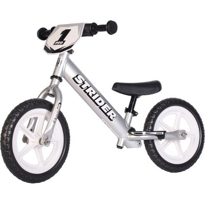"Strider Pro 12"" Kids' Balance Bike - Silver"