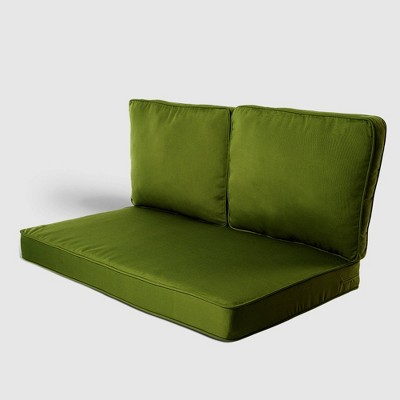 Belmont  3pc Outdoor Replacement Loveseat Sofa Cushion Set Green - Haven Way