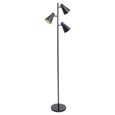 Tres Floor Lamp Black And Gold Only Lumisource Target