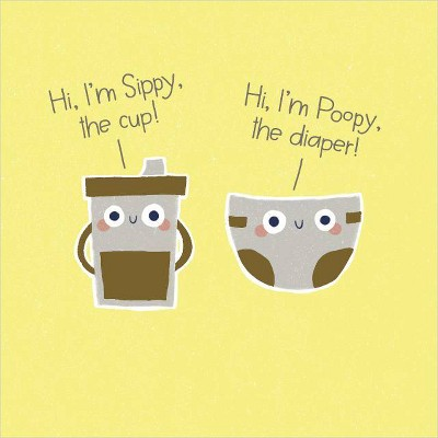 """""""Sippy and Poopy"""" Greeting Card"""