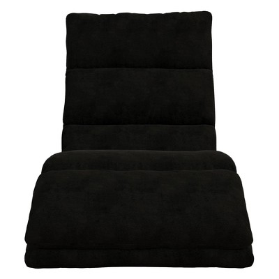 Burbank Wave Adjustable Memory Foam Lounger Black - Room & Joy