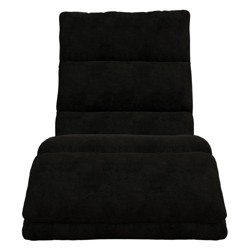 Burbank Wave Adjustable Memory Foam Lounger Black - Room & Joy