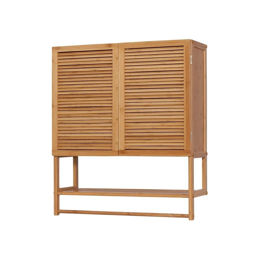 Image of 2 Door Wall Cabinet with Towel Bar - Eco Styles