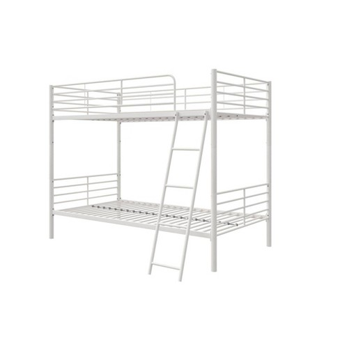Twin Over Twin Convertible Metal Bunk Bed White Room Joy Target