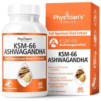 Physician's Choice Ashwagandha KSM-66 Capsules - 60ct