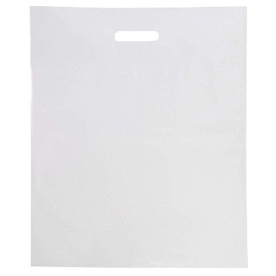 Juvale 100 Pack Clear Plastic Merchandise Bags with Handles for Retail, 12 x 15 in