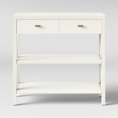 Owings Console Table with 2 Shelves and Drawers- Off White - Threshold™