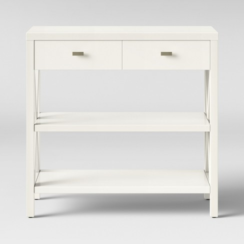 Owings Console Table with 2 Shelves and Drawers- Off White - Threshold™ - image 1 of 4