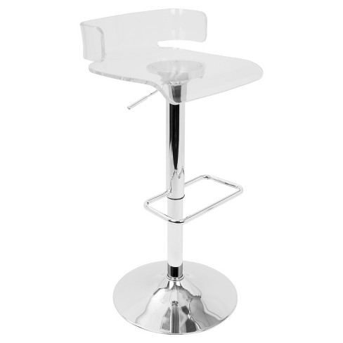 Fine Pride Contemporary Adjustable Barstool Clear Acrylic Lumisource Forskolin Free Trial Chair Design Images Forskolin Free Trialorg