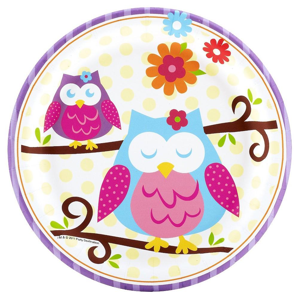8ct Owl Blossom Dessert Plate
