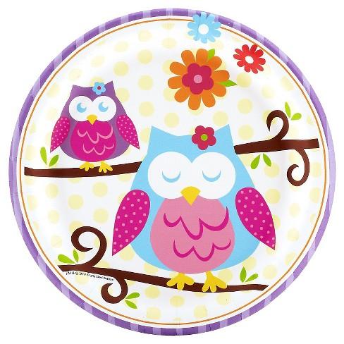 8ct Owl Blossom Dessert Plate - image 1 of 2