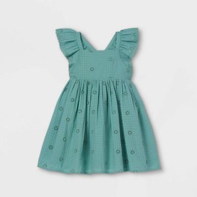 Toddler Girls' Ruffle Sleeve Dress - Cat & Jack™
