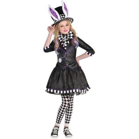 Kids Dark Mad Hatter Girl Halloween Costume 12 14 Target