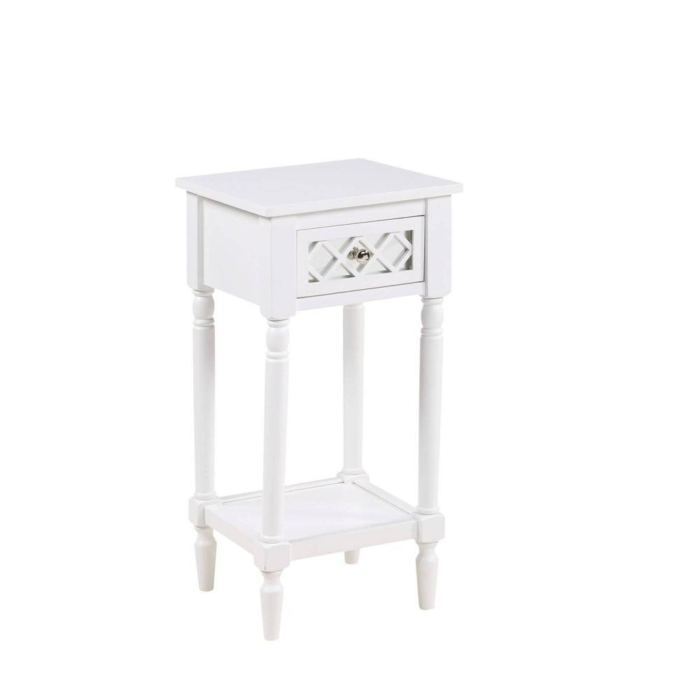 French Country Khloe Deluxe Accent Table White Breighton Home
