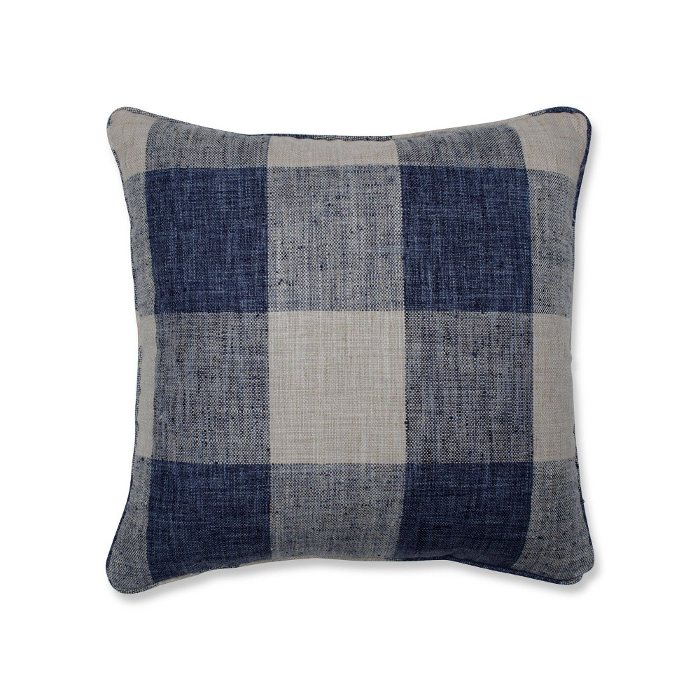 18 34 X18 34 Check Please Square Throw Pillow Blue Pillow Perfect