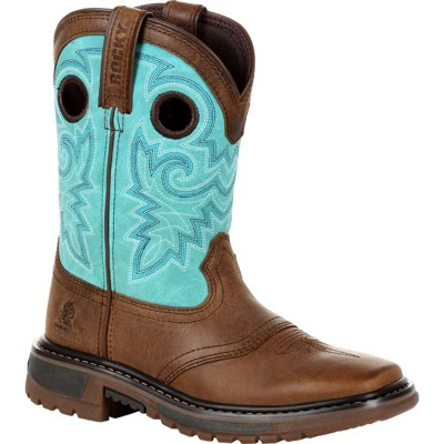 Rocky Girls Teal Original Ride FLX Western Boot Size 3.5