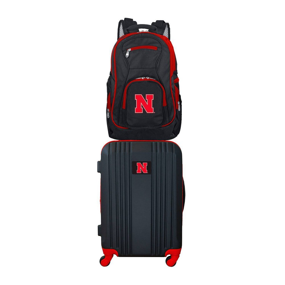 NCAA Nebraska Cornhuskers Premium 2pc Backpack & Carry-On Luggage Set