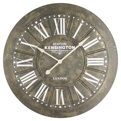 40  Round Wall Clock Distressed Iron - Yosemite Home Decor®