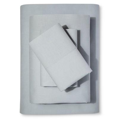 Washed Linen Cotton Blend Sheet Set (Queen)Lite Blue - Loft New York