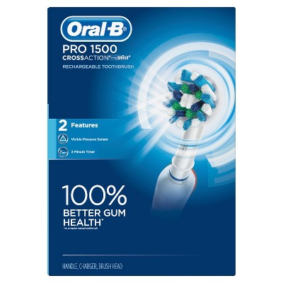 Oral-B Pro 1500 Electric Rechargeable Toothbrush with CrossAction Brush Head