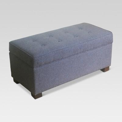 Shelton Tufted Top Storage Ottoman - Dark Gray - Threshold™