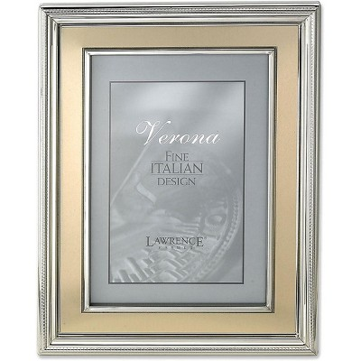 """Lawrence Frames Verona Collection 8"""" x 10"""" Metal Gold Picture Frame 840280"""