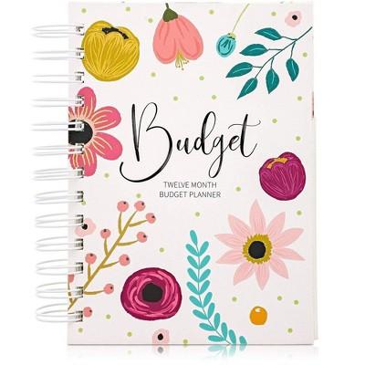 """Paper Junkie 12 Month Money Budget Planner Spiral Organizer Notebook 24 Inner Pockets, 5""""x7"""""""