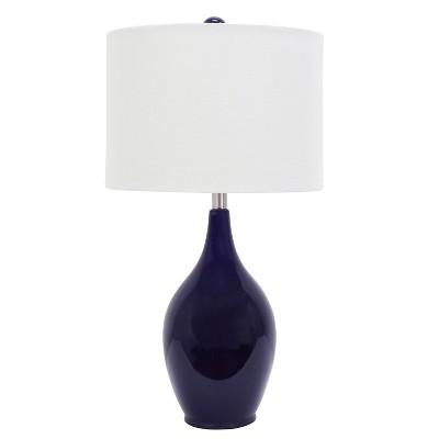 Ceramic Table Lamp Blue - Decor Therapy