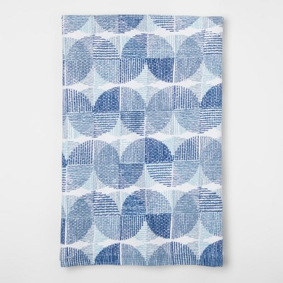 White And Blue Geometric Kitchen Towel - Project 62™