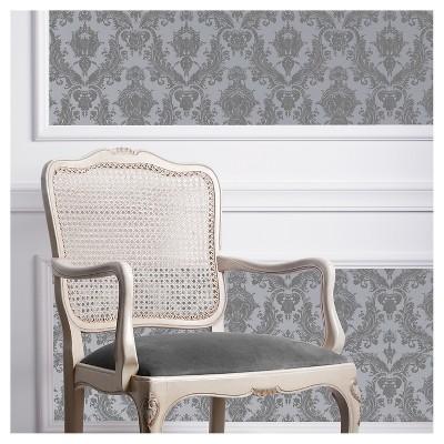 Tempaper Textured Damsel Self-Adhesive Removable Wallpaper Gray