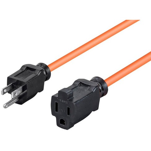 25ft 16AWG Orange Outdoor Power Extension Cord, 13A (NEMA 5-15P to NEMA 5-15R) - image 1 of 3