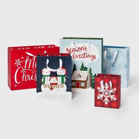5ct Casual Christmas Gift Bags - Wondershop™ - image 1 of 2