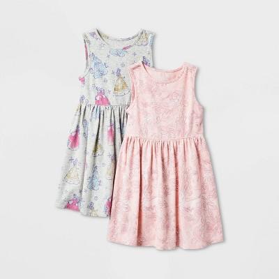 Toddler Girls' 2pk Disney Sleeveless Belle And Princess Dress