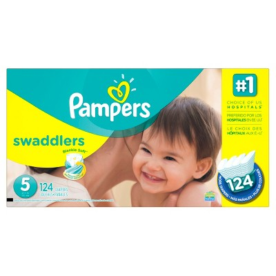 Pampers Swaddlers Diapers Economy Plus Pack Size 5 (124 ct)