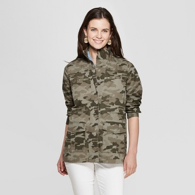 41b66563bb Women's Camo Print Utility Jacket – Universal Thread™ Green S ...