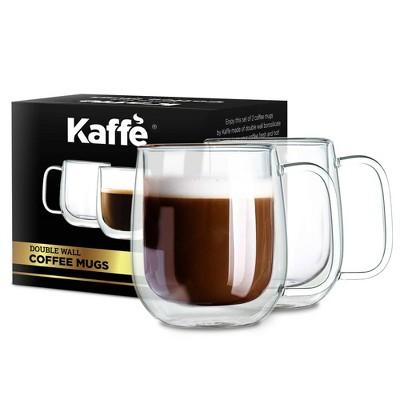 Kaffe Double-Wall Borosilicate Glass Cups - Set of 2