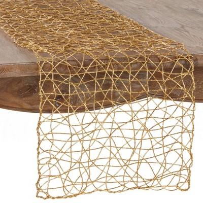 "16""x72"" Wire Nest Table Runner - Saro Lifestyle"