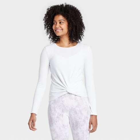 Women's Long Sleeve Twist-Front T-Shirt - All in Motion™ - image 1 of 4