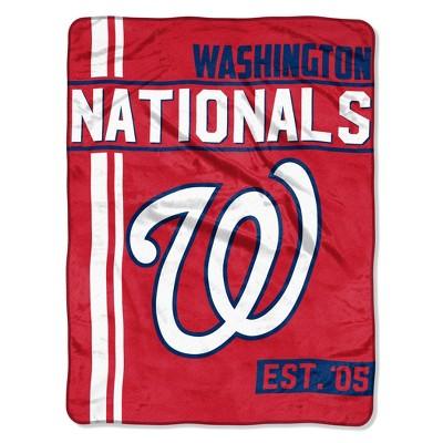 MLB Washington Nationals Micro Fleece Throw Blanket
