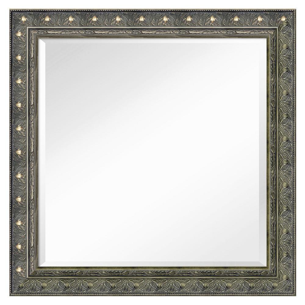 Image of Square Barcelona Decorative Wall Mirror - Amanti Art, Black