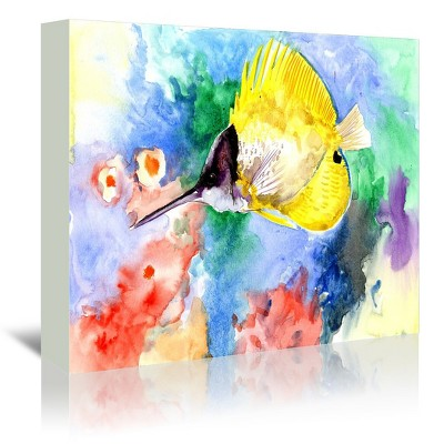 Americanflat Coral Reef Fish 3 by Suren Nersisyan Wrapped Canvas
