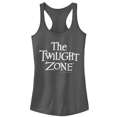 Junior's The Twilight Zone Classic Logo Racerback Tank Top
