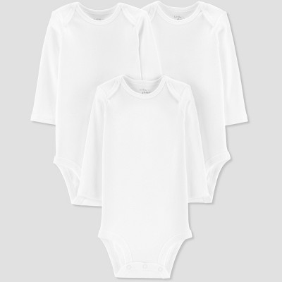 Baby 3pk Long sleeve Bodysuit - Little Planet by Carter's White Newborn