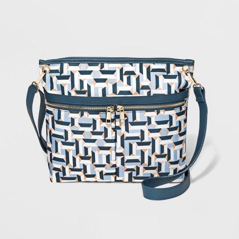 Nylon Messenger Bag - A New Day™ White - image 1 of 3